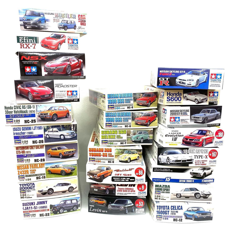 こんなもの出品します こんにちは! 近々国産車のプラモデルを出品します 日産、マツダ、トヨタ、いすゞ、スズキ、ホンダ…スポーツカーや昔懐かしい乗用車がたくさん🏻 車って、ロマンですよね  TAMIYA、Hasegawa多数出品しますのでお見逃し無く!⊂( *・ω・ )⊃  #RX-7いいよね